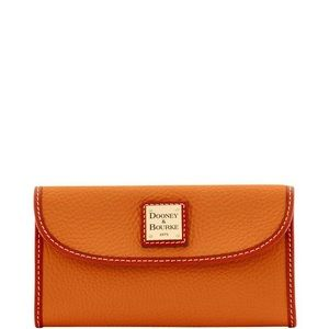 Dooney & Bourke Pebbled Continental Leather Wallet